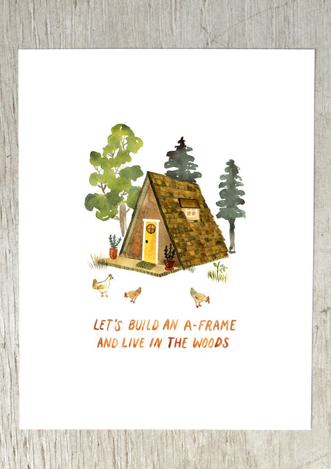 A-Frame Art Print Art Prints Little Truths Studio