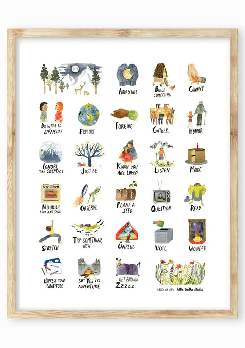 ABCs of Life Art Print Art Prints Little Truths Studio