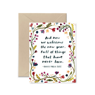 And Now We Welcome The New Year Greeting Card Greeting Card Little Truths Studio