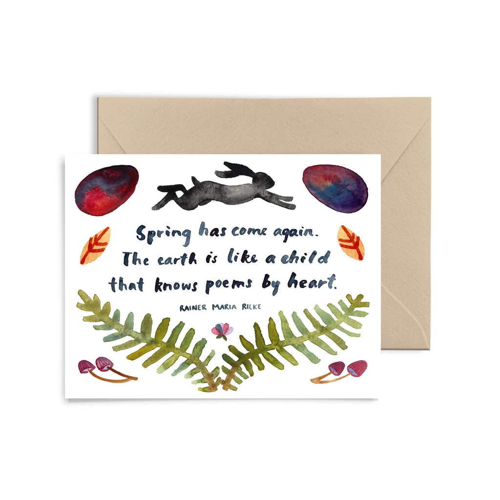 Black Rabbit Spring Greeting Card Greeting Card Little Truths Studio