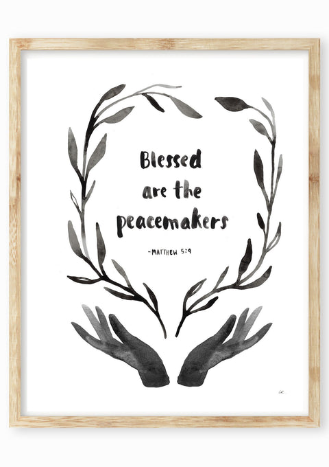 Blessed Are The Peacemakers Art Print Art Prints Little Truths Studio