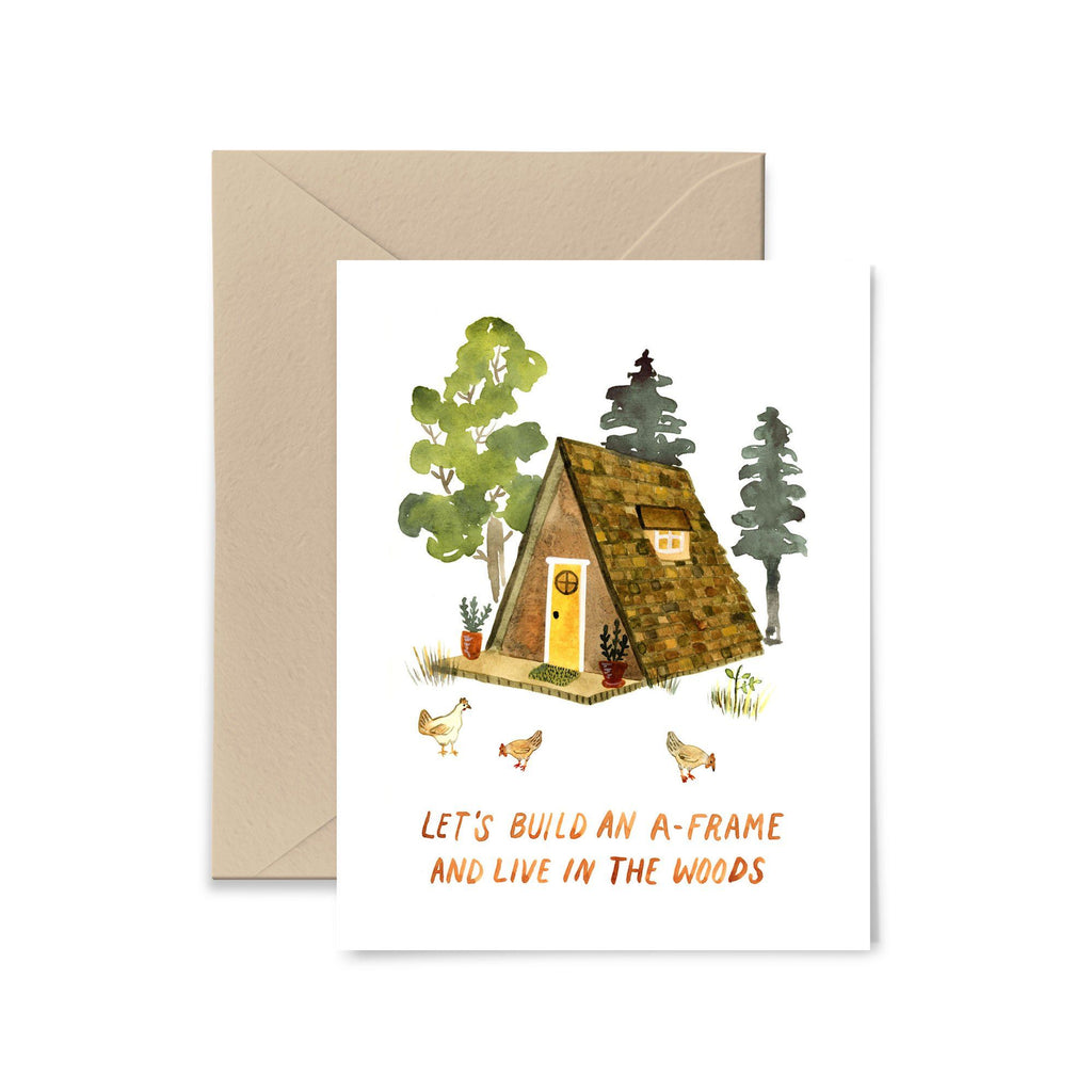 Build An A-Frame Greeting Card Greeting Card Little Truths Studio