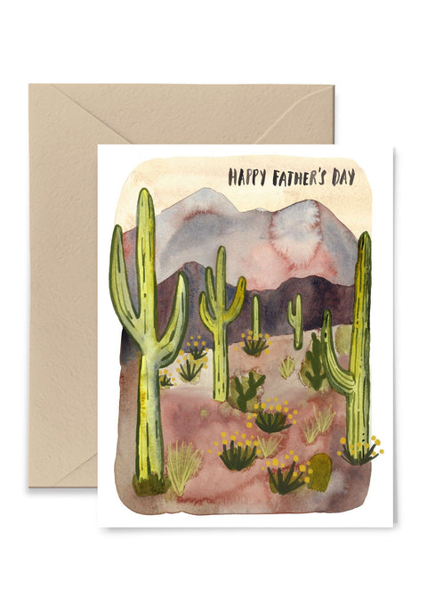 Cactus Father's Day Greeting Card Greeting Card Little Truths Studio