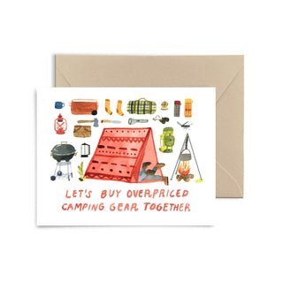 Camping Gear Greeting Card Greeting Card Little Truths Studio