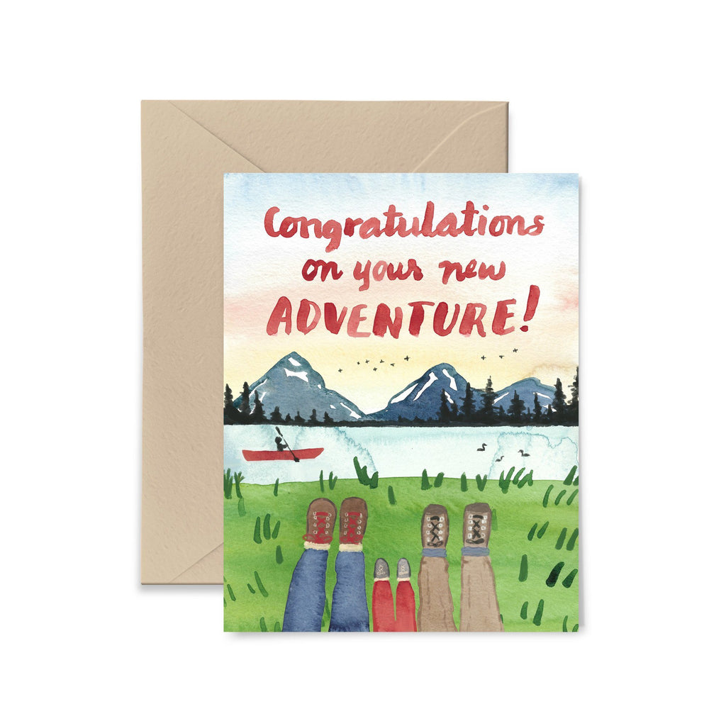 Congratulations On Your New Adventure Greeting Card Greeting Card Little Truths Studio