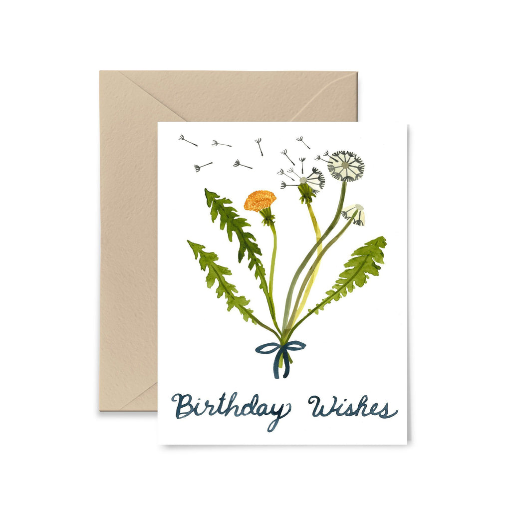 Dandelion Wishes Birthday Greeting Card Greeting Card Little Truths Studio