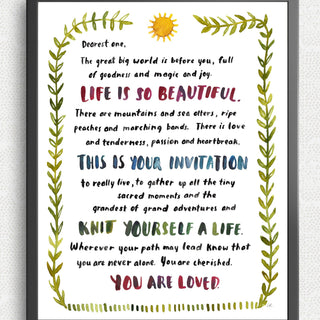 Dearest One Art Print Art Prints Little Truths Studio