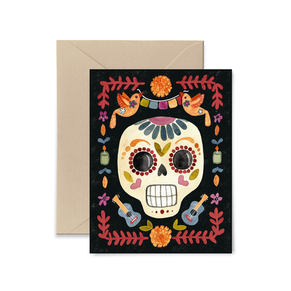Dia De Los Muertos Greeting Card Greeting Card Little Truths Studio
