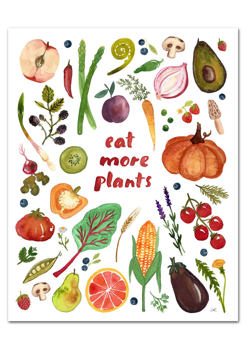 Eat More Plants Art Print Art Prints Little Truths Studio