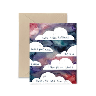 Ever Since Happiness Heard Your Name Greeting Card Greeting Card Little Truths Studio