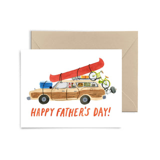 Father's Day Station Wagon Greeting Card Greeting Card Little Truths Studio