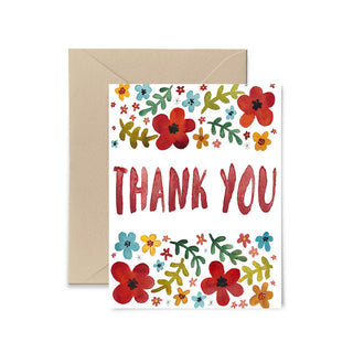 Floral Thank You Card Greeting Card Little Truths Studio