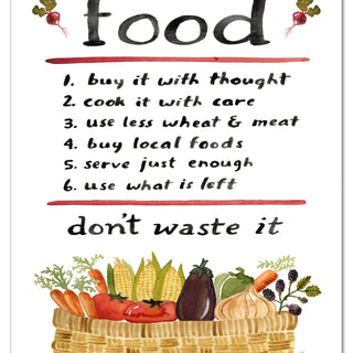 Food Advice Art Print Art Prints Little Truths Studio