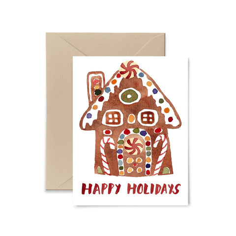 Gingerbread House Holiday Card Greeting Card Little Truths Studio