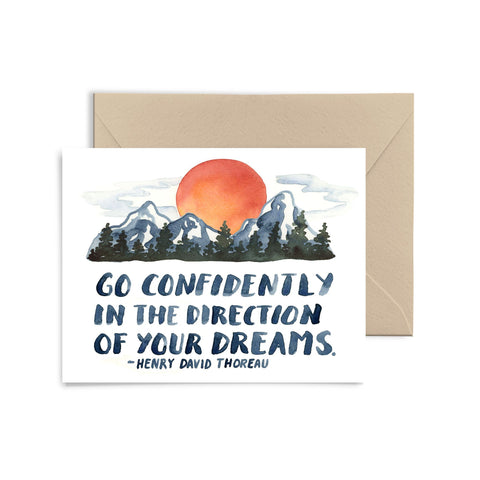 Go Confidently Greeting Card Greeting Card Little Truths Studio