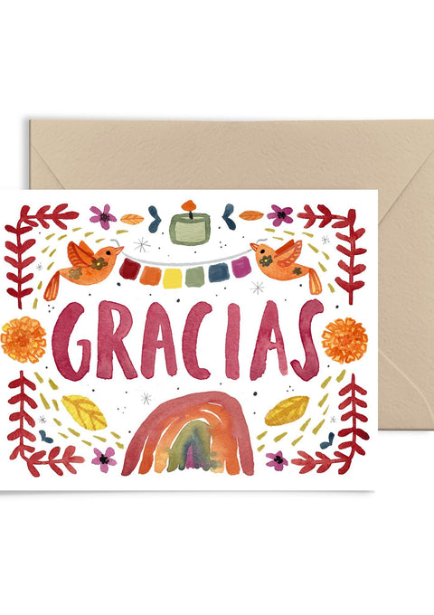 Gracias Greeting Card Greeting Card Little Truths Studio
