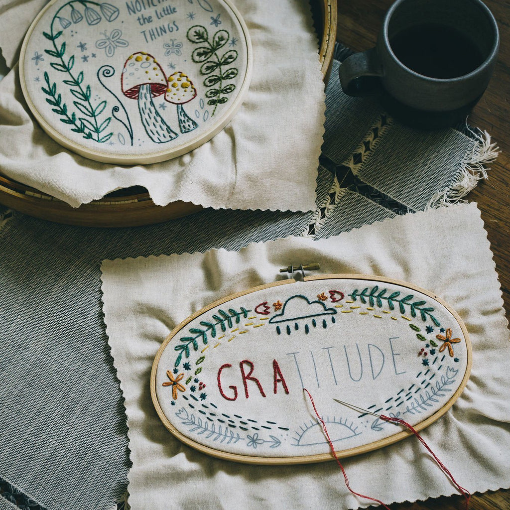 Gratitude Embroidery Kit embroidery kit Little Truths Studio