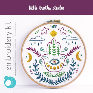 Hamsa Embroidery Kit Little Truths Studio