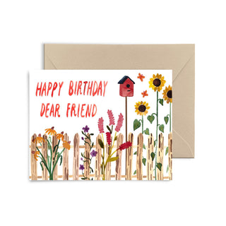 Happy Birthday Dear Friend Greeting Card Greeting Card Little Truths Studio