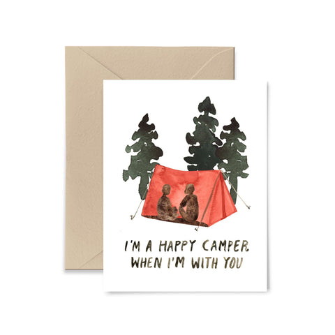 Happy Camper Greeting Card Greeting Card Little Truths Studio