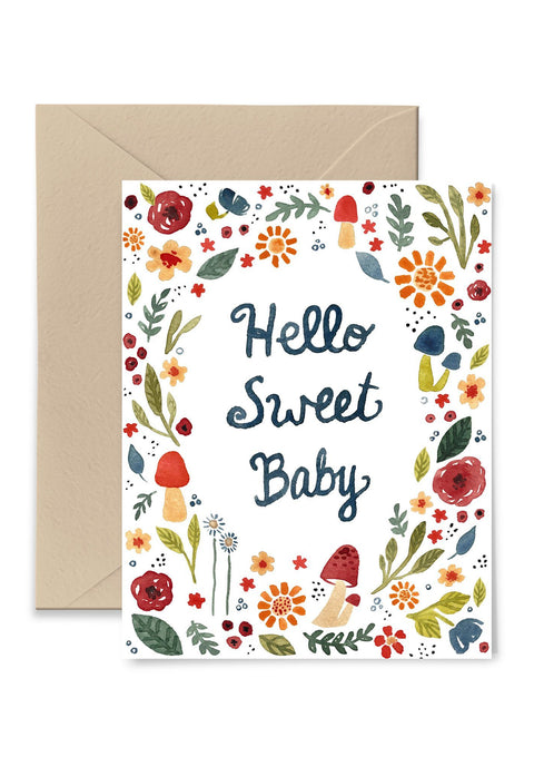 Hello Sweet Baby Card Greeting Card Little Truths Studio