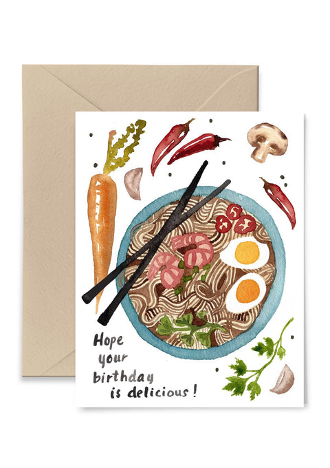 Hope Your Birthday Is Delicious Greeting Card Greeting Card Little Truths Studio
