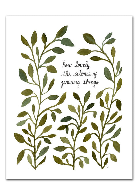 How Lovely the Silence of Growing Things Art Print Art Prints Little Truths Studio