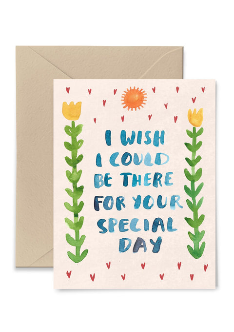 I Wish I Could Be There Greeting Card Greeting Card Little Truths Studio