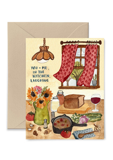 In The Kitchen Laughing Card Greeting Card Little Truths Studio