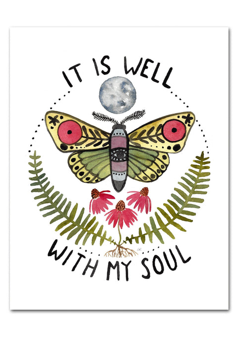It Is Well With My Soul Watercolor Art Print Art Prints Little Truths Studio