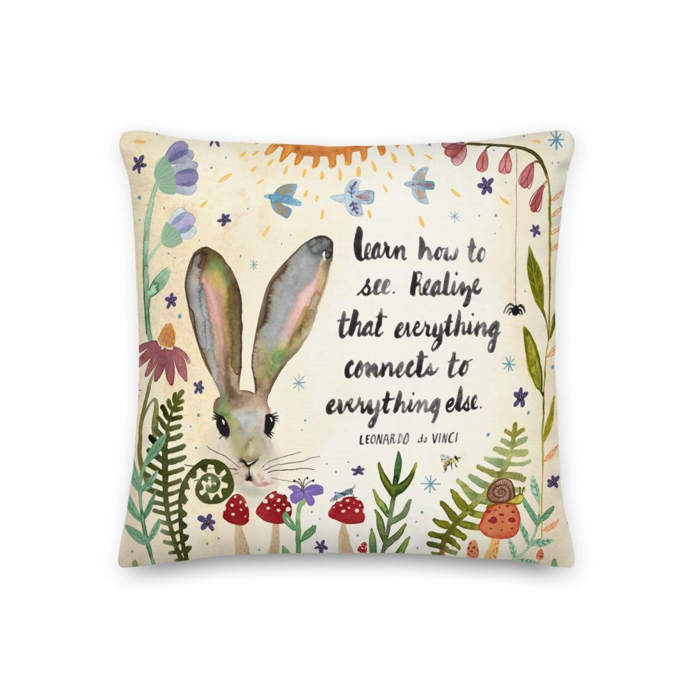Learn How To See Pillow pillow Little Truths Studio