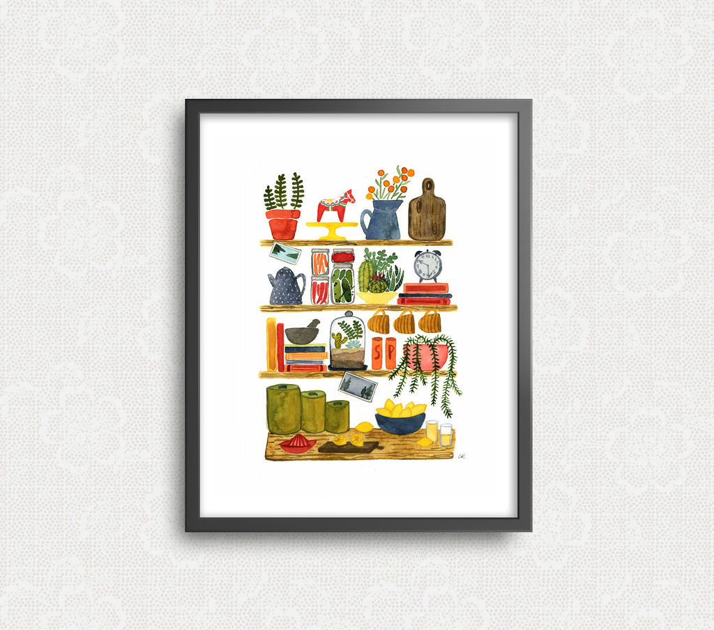 Lemonade Kitchen Shelves Art Print Art Prints Little Truths Studio