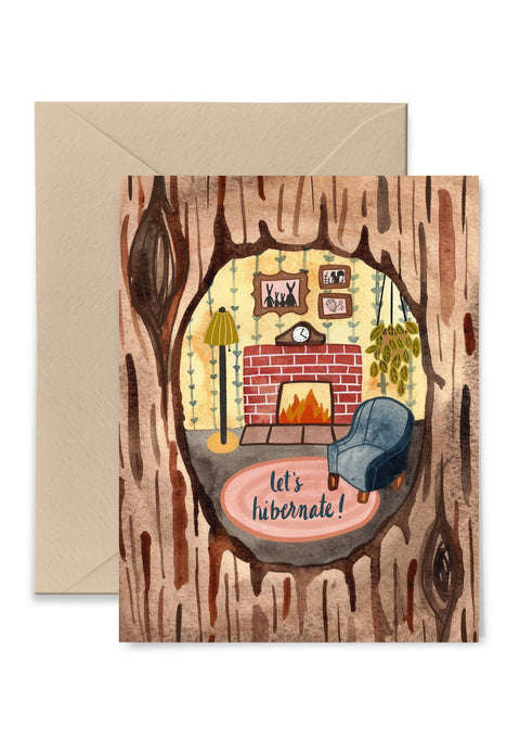 Let's Hibernate Greeting Card Greeting Card Little Truths Studio
