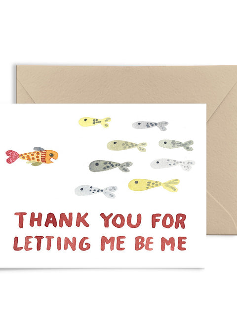 Letting Me Be Me Greeting Card Greeting Card Little Truths Studio