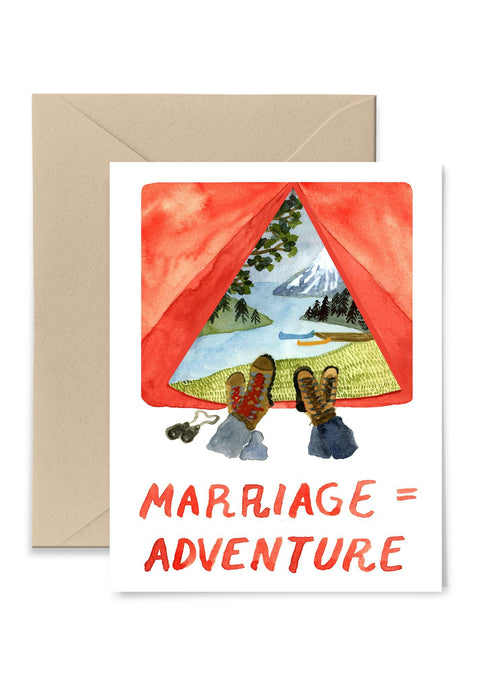 Marriage = Adventure Greeting Card Greeting Card Little Truths Studio