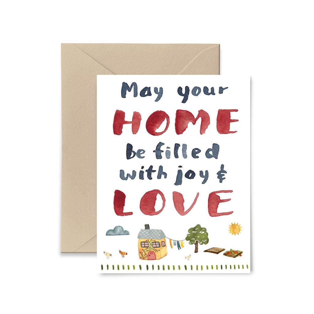 May Your Home Be Filled With Joy Greeting Card Greeting Card Little Truths Studio