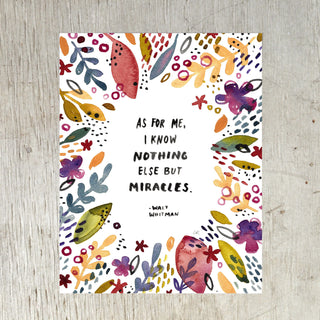Nothing Else But Miracles Art Print Art Prints Little Truths Studio