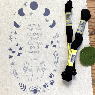 Now Is The Time Embroidery Kit embroidery kit Little Truths Studio