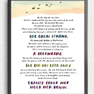 On The Day She Was Born Art Print Art Prints Little Truths Studio