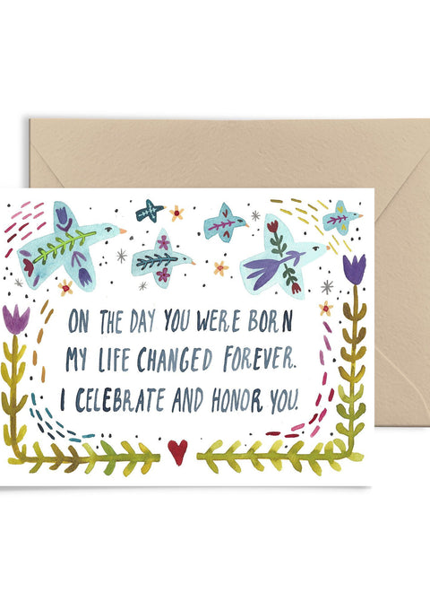 On The Day Your Were Born Greeting Card Greeting Card Little Truths Studio