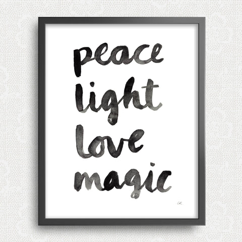 Peace Light Love Magic Art Print Art Prints Little Truths Studio