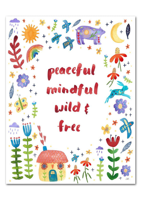 Peaceful, Mindful Art Print Art Prints Little Truths Studio