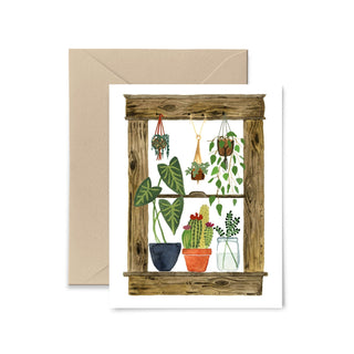 Plants Window Greeting Card Greeting Card Little Truths Studio