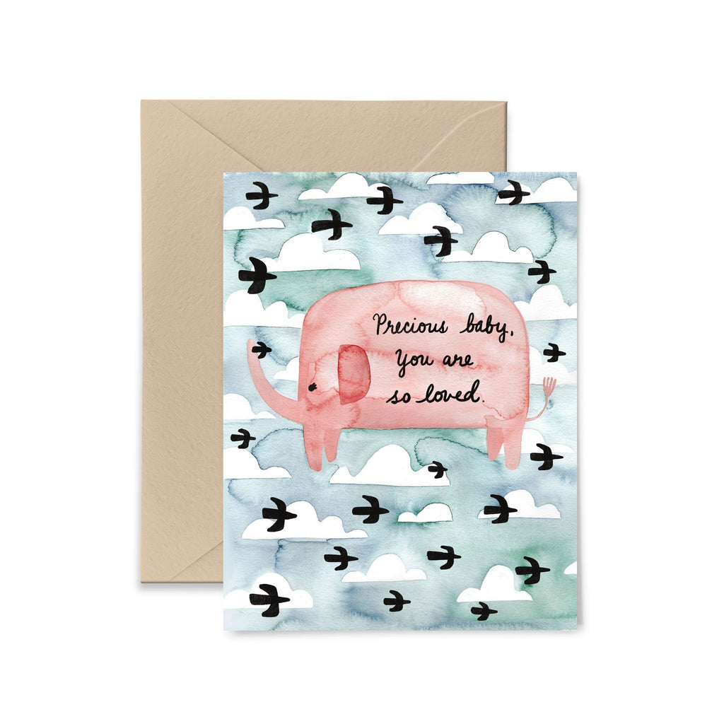 Precious Baby You Are So Loved Greeting Card Greeting Card Little Truths Studio