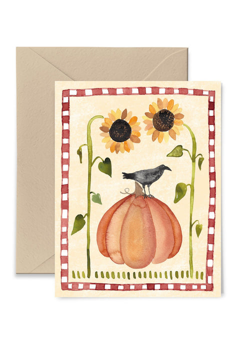 Pumpkin Crow Greeting Card Greeting Card Little Truths Studio