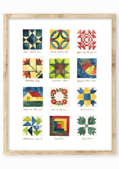 Quilt Blocks Art Print Art Prints Little Truths Studio