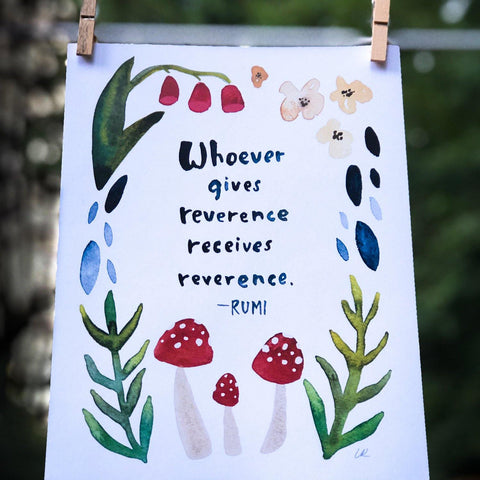 Reverence Art Print Art Prints Little Truths Studio