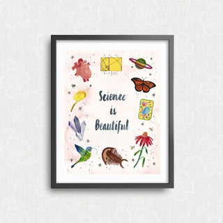 Science is Beautiful Art Print Art Prints Little Truths Studio
