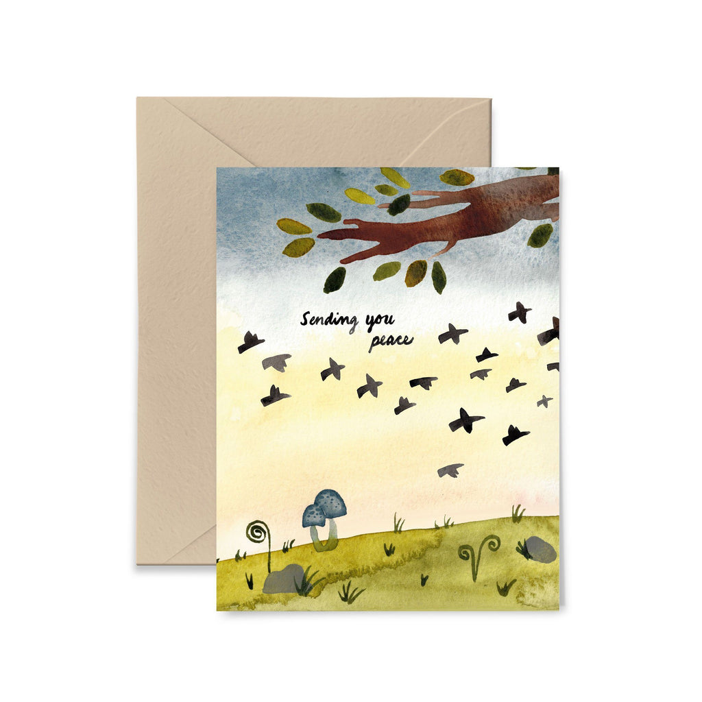Sending You Peace Greeting Card Greeting Card Little Truths Studio