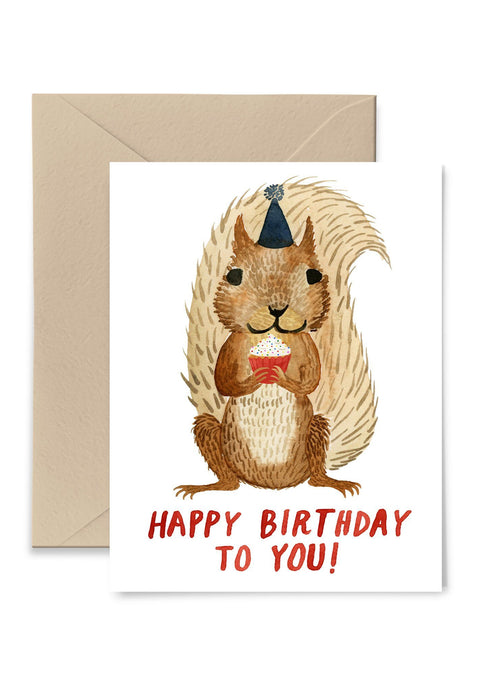 Squirrel Birthday Greeting Card Greeting Card Little Truths Studio